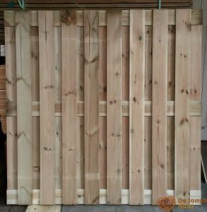 gewolmaniseerd tuinscherm - houthandel noord holland